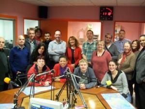 """L'équipe des partenaires Grundtvig """"Forma Radio For Me"""" dans le studio de Fréquence-Sillé  (Réunion multilatérale Octobre 2012)"""