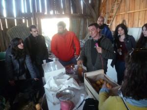Un groupe de jeunes espagnols et basques en reportage dans une ferme bio de Sarthe