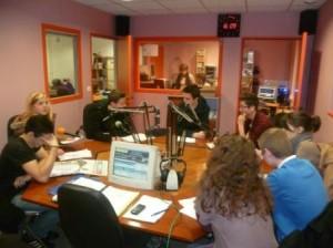 Les lycéennes et lycéens sarthois prêts au duplex radio avec les jeunes Burundais