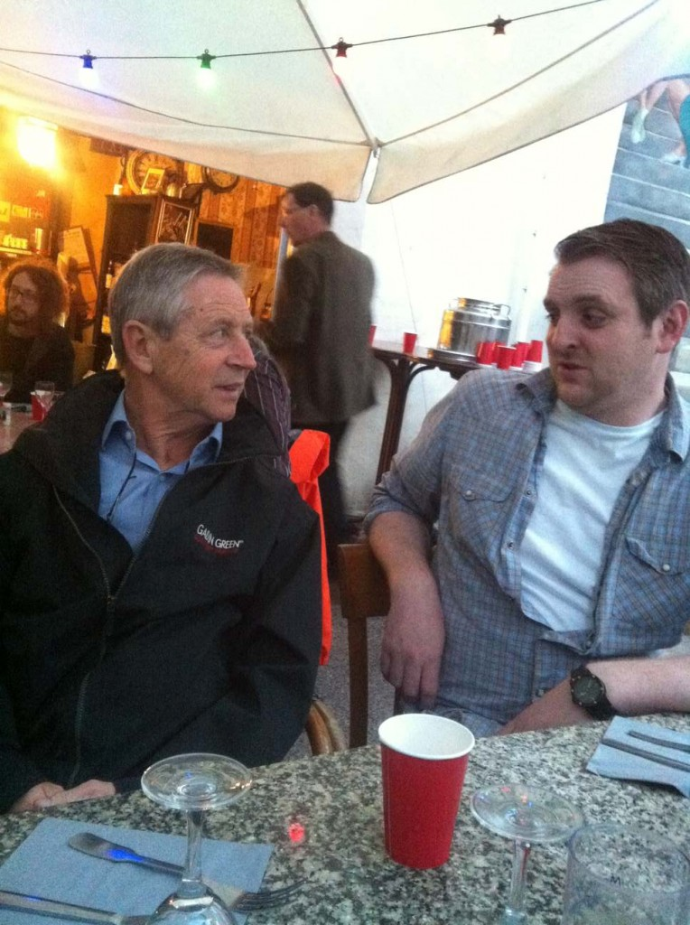 Alan Connelly (L) Iain O'Connor (R)
